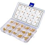 QLOUNI Kits condensateur monolithique 450 pcs 50V 10pF-100nF - Condensateur céramique multi-monolithique (Jaune)