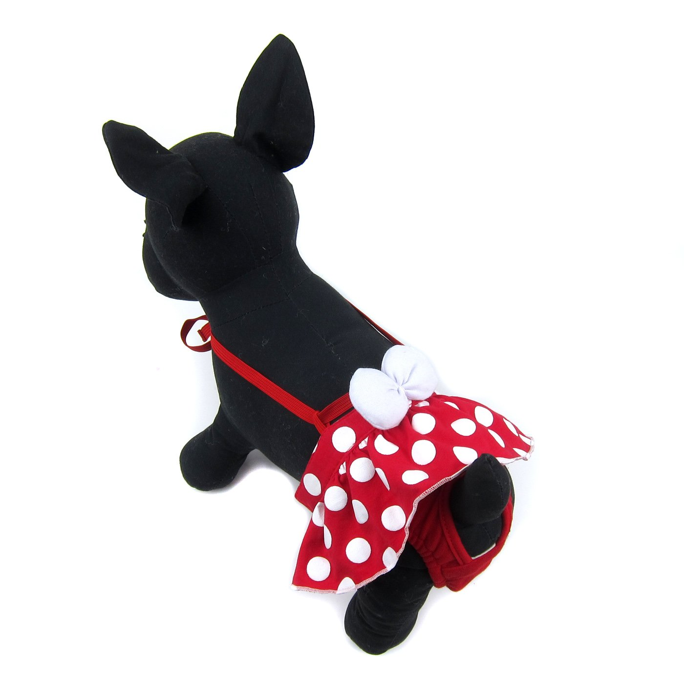 Alfie Pet by Petoga Couture - Alice Diaper Dog Sanitary Pantie with Suspender - Color Red, Size: Small (for Girl Dogs)