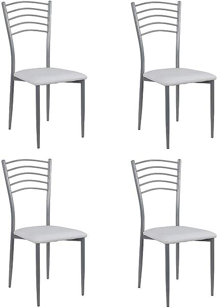 Noorsk Design Lote de 2 taburetes Bajos de Cocina Par/ís Blanco