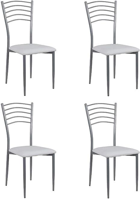 Blanco Noorsk Design Lote de 2 taburetes Bajos de Cocina Par/ís