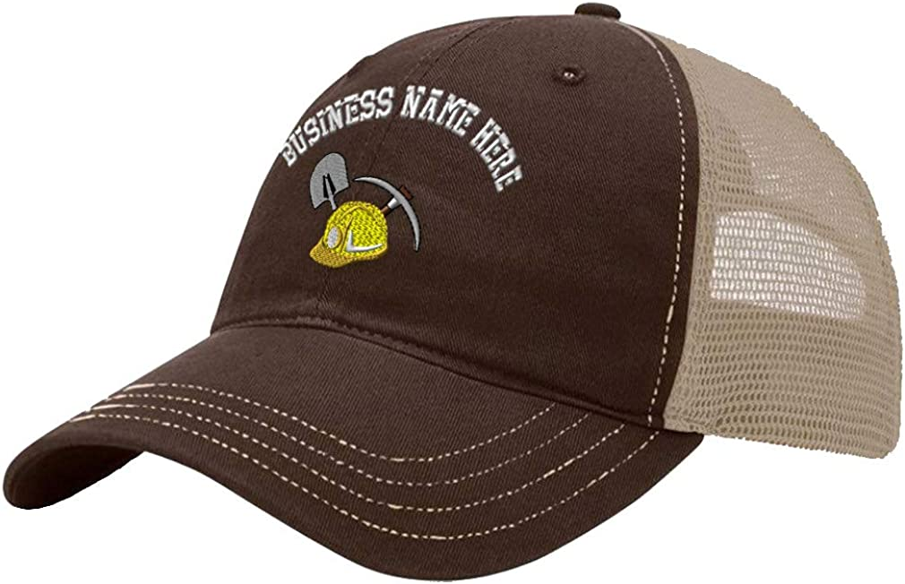 Custom Trucker Hat Richardson Coal Miners Logo Embroidery Business Name Cotton