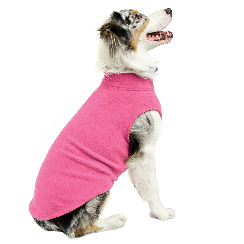 Gooby - Stretch Fleece Vest, Pullover Fleece Vest Jacket Sweater for Dogs, Pink, 5X-Large by Gooby