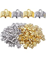 100pcs Book Pendant Charms Alloy Open Holy Bible Book Charms Pendants Open Books Charms for DIY Bracelets Necklace Jewelry Making and Crating, 12mm×11mm
