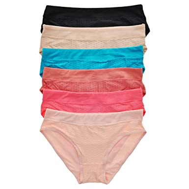 1440041d03e6 Amazon.com: Uni Style Apparel Womens Plain and Lace Cotton Bikini Panties 6  Pack or 12 Pack: Clothing