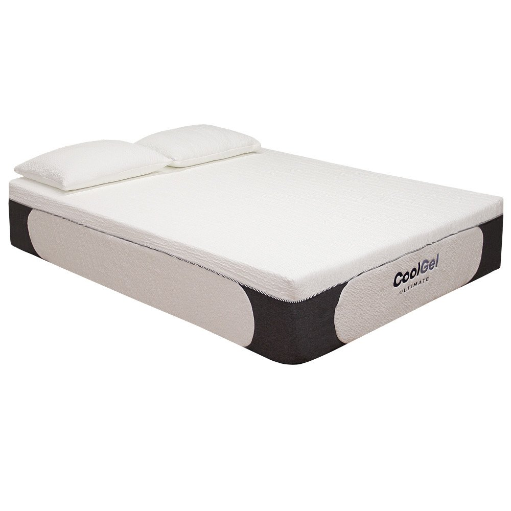 classic brands cool gel ultimate gel memory foam 14inch mattress with bonus 2 pillows