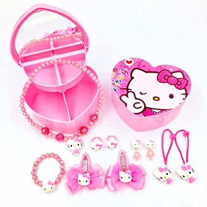 18d9b496a Kerr's Choice ❤Hello Kitty Gifts❤ Hello Kitty Necklace Bracelet and Pink  Hair Accessories for