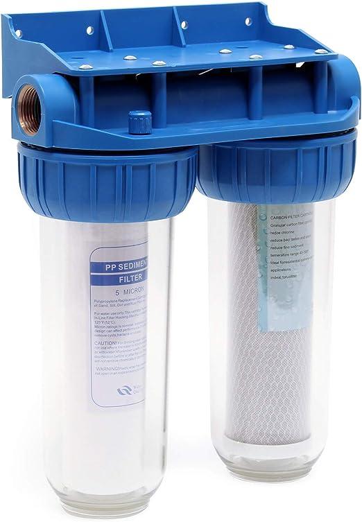 Naturewater NW-BR10B3 Filtro de agua doble con 2 niveles 26,16mm ...