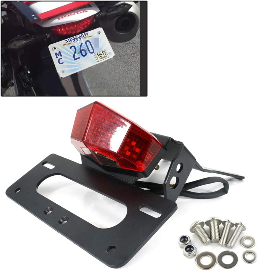 Xitomer Fender Eliminator/tail tidy, For HONDA CRF250L / M 2012 2013 2014 2015 2016 2017 2018 2019 2020, with LED Tail light/License Plate Light, Compatible with Aftermarket Blinkers (Red)