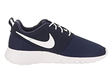 best service 08abd a0d37 Amazon.com   Nike Roshe One GS - 599728416 - Color White-Navy Blue - Size   3.5   Running