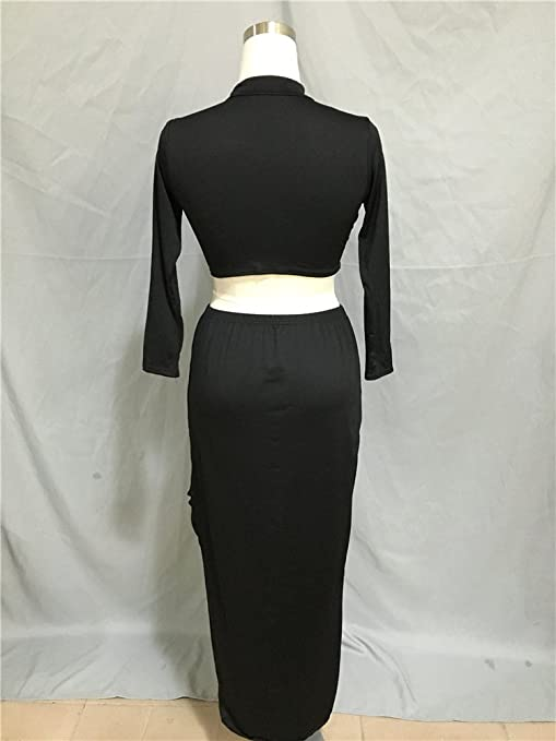 Tuta Donna Elegante Crop Top E Gonna 2 Pezzi Set Elegante Vintage Giovane  Grazioso Fashion Gonne A Vita Alta Irregolare Asimmetrico Magliette T Shirt  ... bc676cbd8e7