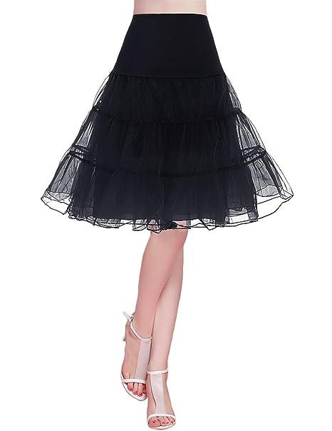 8bc851b63 Bridesmay Enaguas Años 50 Vintage para Vestidos Faldas Cortas De Tul Mujer  Cancan Tutu Rockabilly
