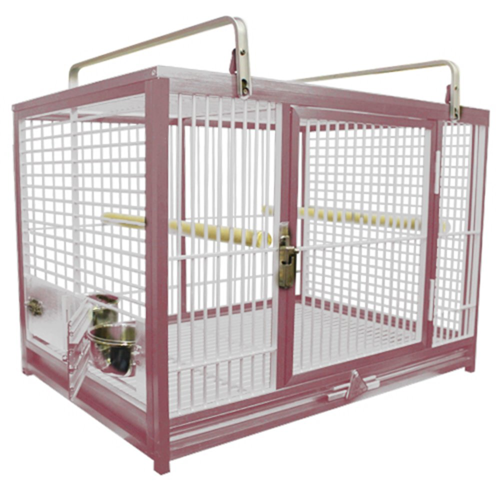 Large Aluminium Parrot Travel Carriers CAGE ATM 2029 Bird Cages (RED) by King's Cages