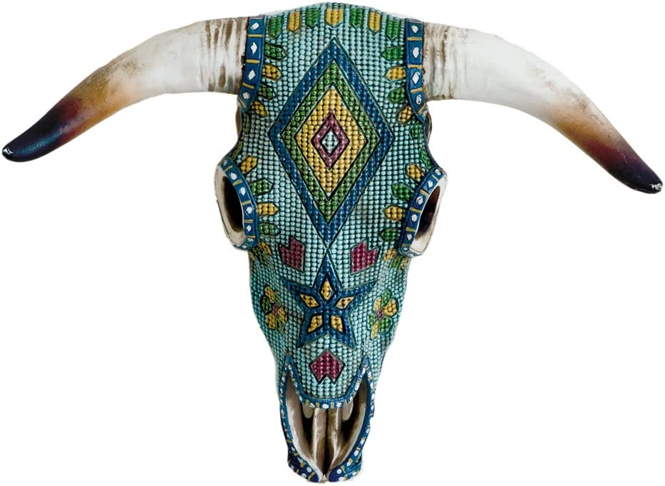 Southwest Aztec Cowskull Wall Decor