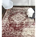 A2Z Rug Vintage Traditional Santorini Collection Red 120x170 cm - 4x6 ft Area Rugs