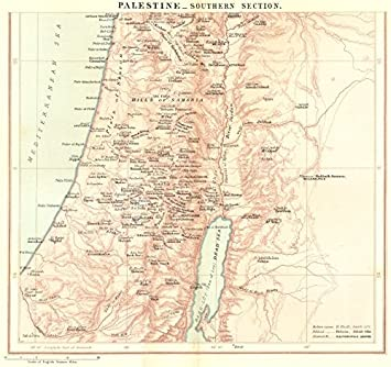 Amazoncom ISRAEL Palestinesouth Jordan c1885 old map