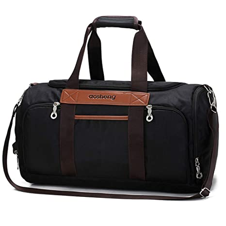 53f3d179fa Image Unavailable. Image not available for. Color  Men Canvas Sports Gym Bag  for Women Fitness Training Travel Duffle Shoulder Bags Yoga Handbag Outdoor