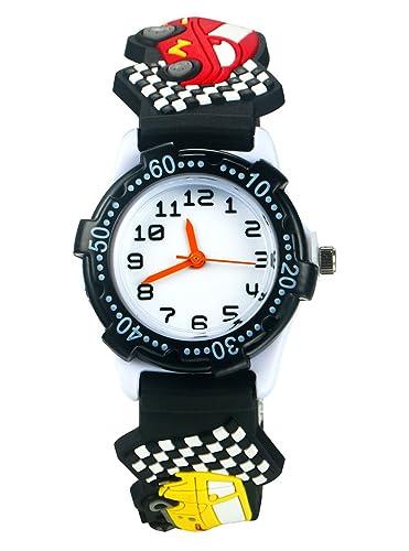 Reloj infantil analogico niña, niños resistente al agua Tiempo Maestro juguete reloj, bebé y niños Cool reloj digital deportivo regalos para niños niñas: ...