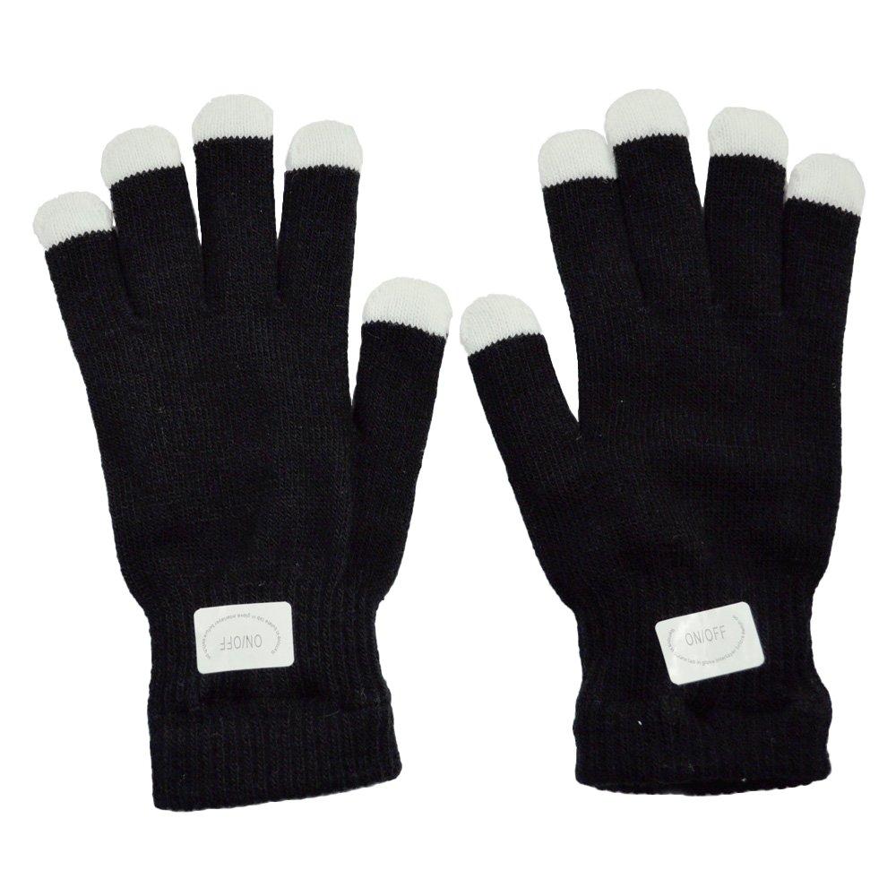 24 Pairs Of Led Rave Gloves - Multi Colour Flashing Fingertips Wholesale (FL14)