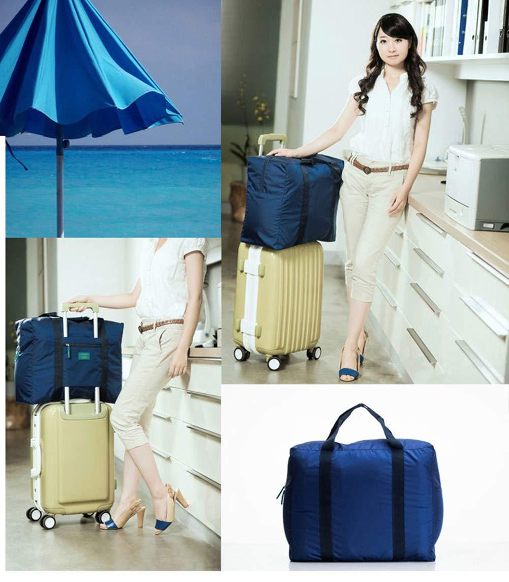 Foldable Travel Tote Duffel Bag Lightweight Travel Bag Weekend Waterproof Large Capacity Storage Luggage Organizer (Navy Blue) by Guyay (Image #4)