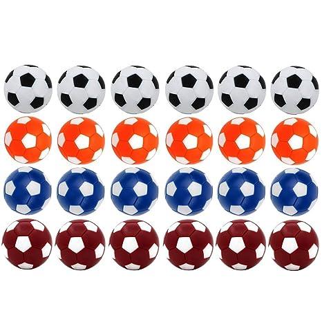 24 pezzi di Palline calcio balilla Oziral ricambio per biliardino colorati 36mm