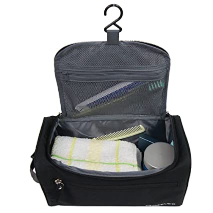 ae8e58bb02c0 Portable Waterproof Hanging Toiletry Bag Travel Kit Organizer Cosmetic Bag  for Men and Women Perfect For