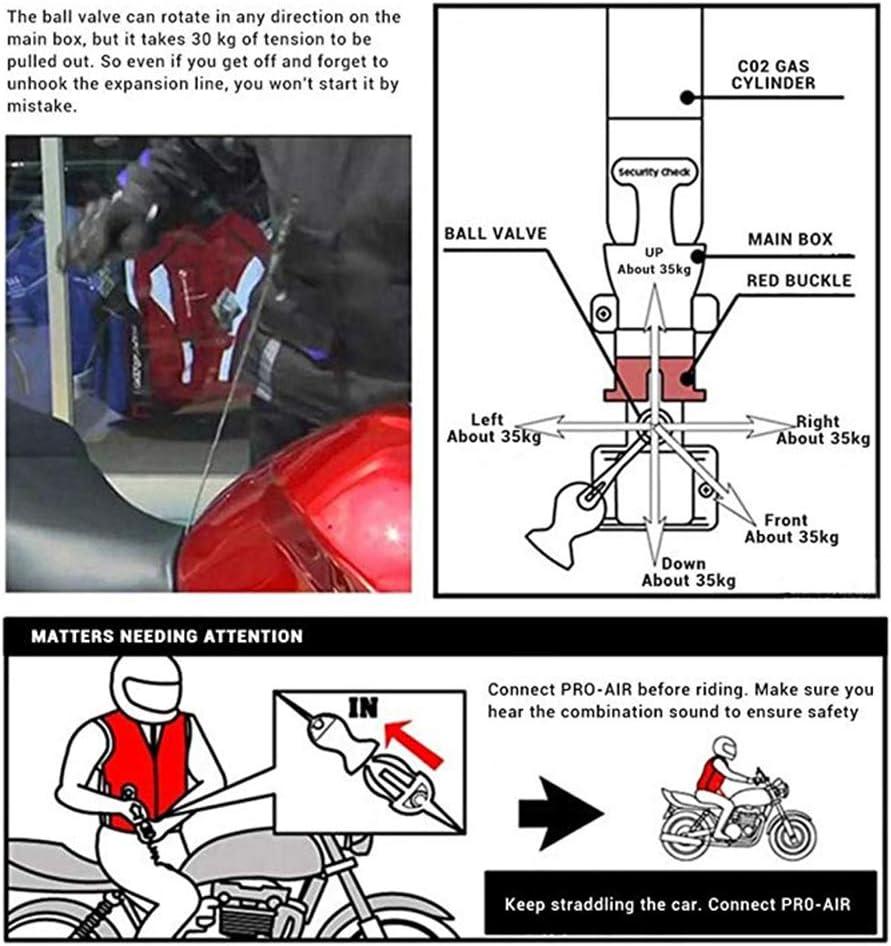 LSSLA Gilet Airbag Gilet R/éfl/échissant Gilet Airbag Moto Gilet R/éfl/échissant Moto Convient Aux Motos Et Aux V/éhicules Tout-Terrain Unisexe