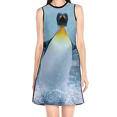 Hakalala Dresses Womens Dress Cute Funny Penguin Girl Princess