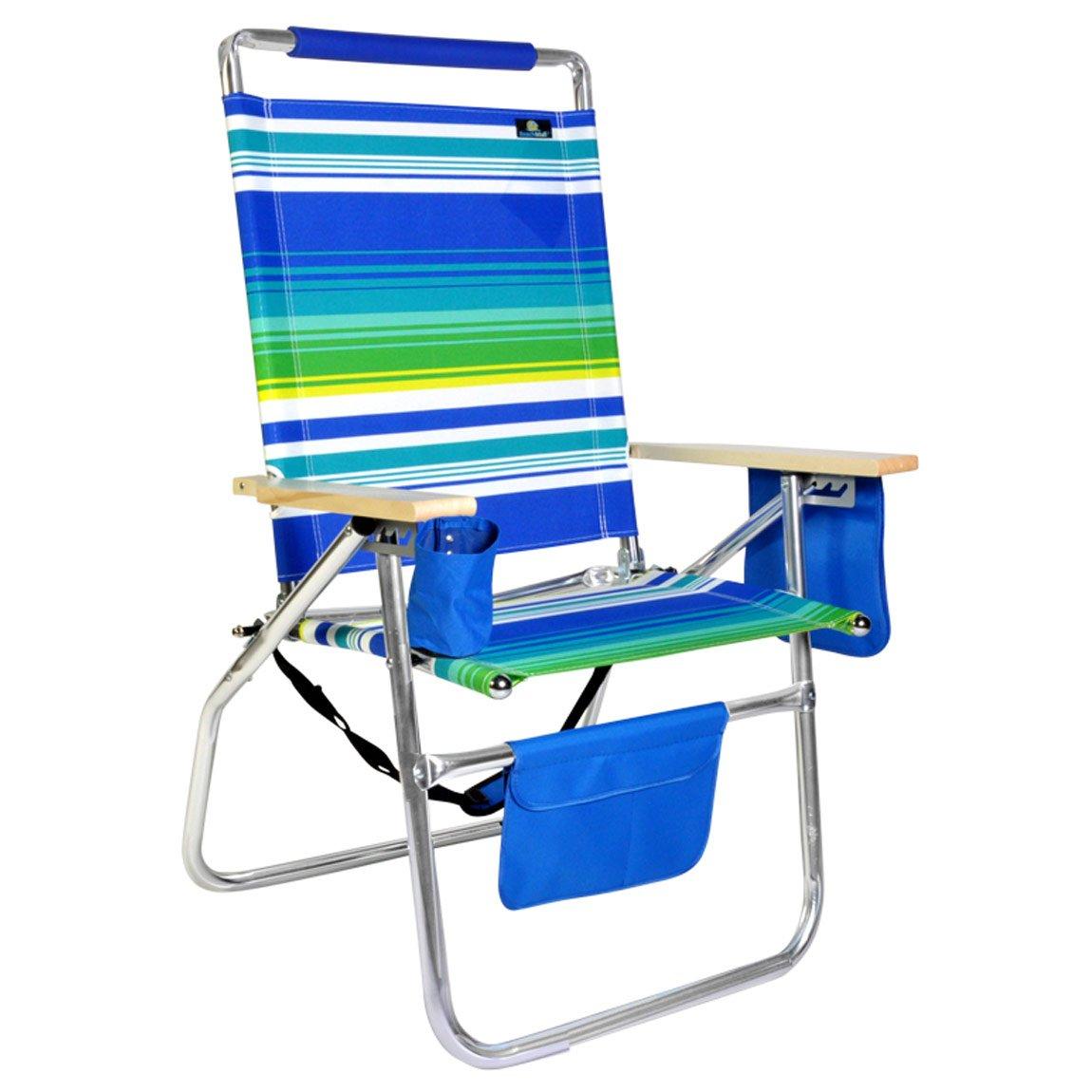 デラックス17インチ高シートアルミビーチ椅子 B079NNJ5N1 862 862
