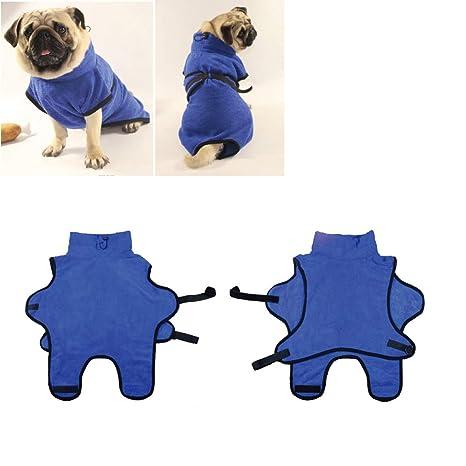 Tineer Albornoz para Mascotas Super Absorbente de Agua Toalla de baño del Perrito Albornoz Suave de