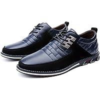 Zapatos de Cuero Oxford de Negocios con Cordones británicos Casuales para Hombres Zapatos de Oficina de conducción de…