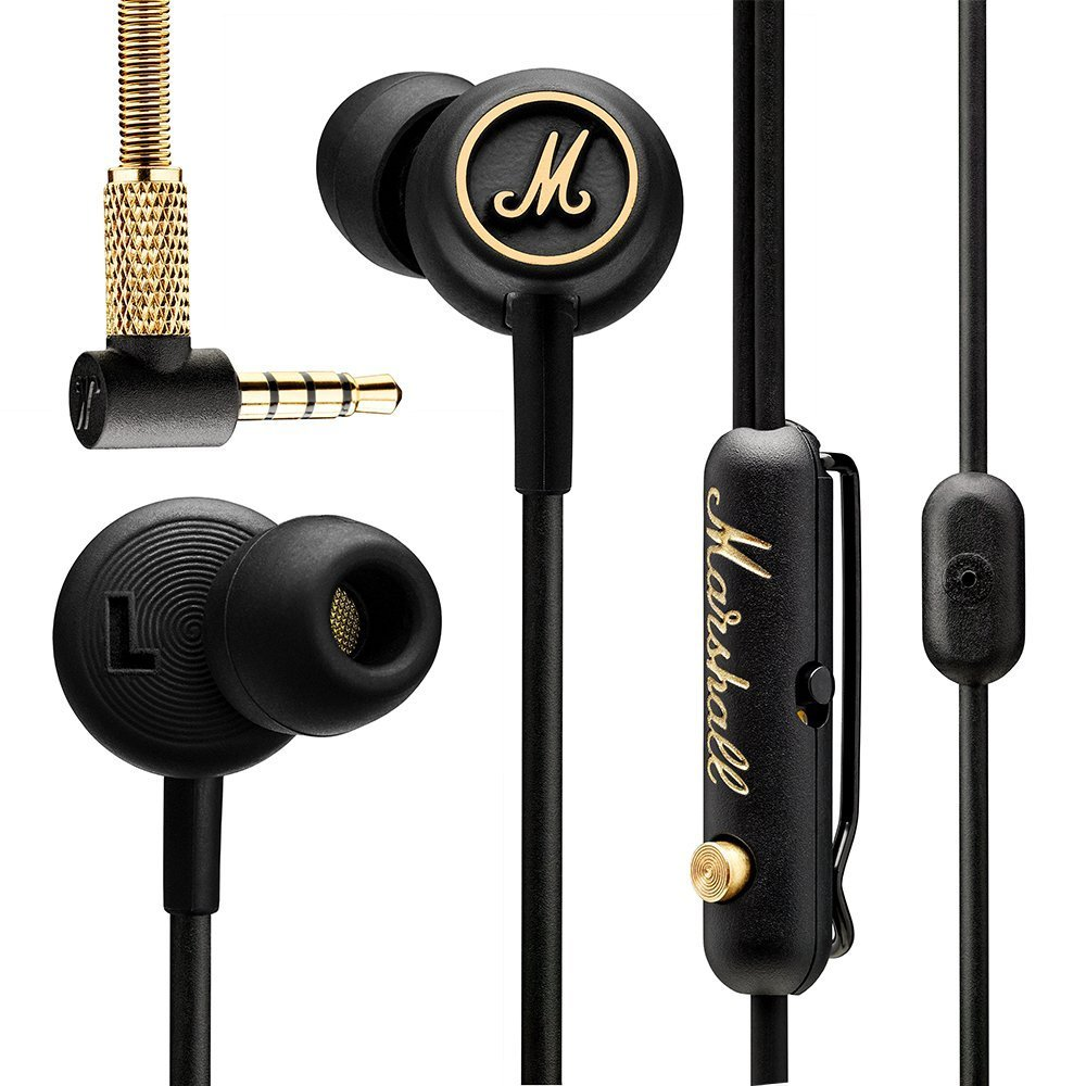 Marshall-Mode EQ - Auriculares in-ear, color negro y latón