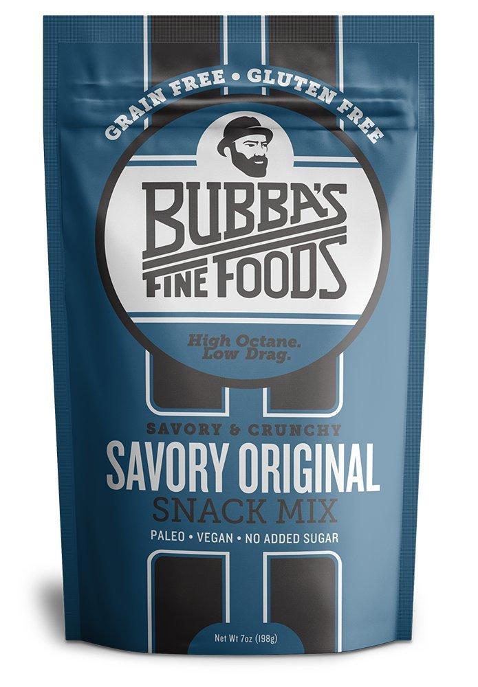 Paleo Snack Mix | Bubbas Fine Foods Savory Original | Vegan, Grain-Free, Gluten-Free | 7 Ounce | Pack of 1