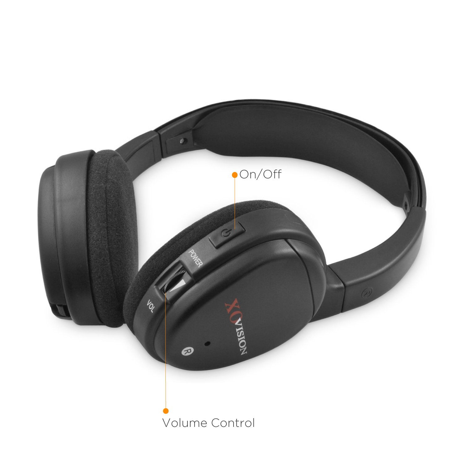 Amazon: Xo Vision Ir620 Universal Ir Infrared Wireless Foldable  Headphones For Incar Tv, Dvd, & Video Listening: Car Electronics