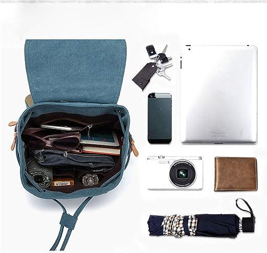 XMYL Bolso De Moda Mochila De Lona Color Sólido Cuaderno Bolsa De Ordenador Bolsa De Viaje Y Ocio Para Estudiantes,Armygreen,27 * 13 * 38Cm: Amazon.es: Ropa ...