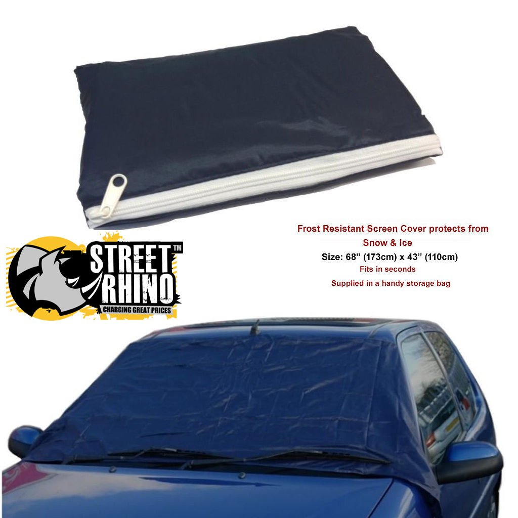 Fiat Punto Universal Anti Frost Snow Ice Wind Screen Protector Cover Street Rhino