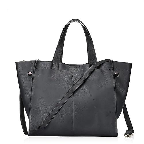 Bicolor - bolso para mujer de piel bolso de hombro bolsas ...