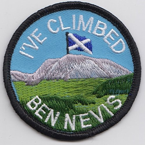 Scotland I've Climbed Ben Nevis Flag Embroidered Badge 1000 Flags