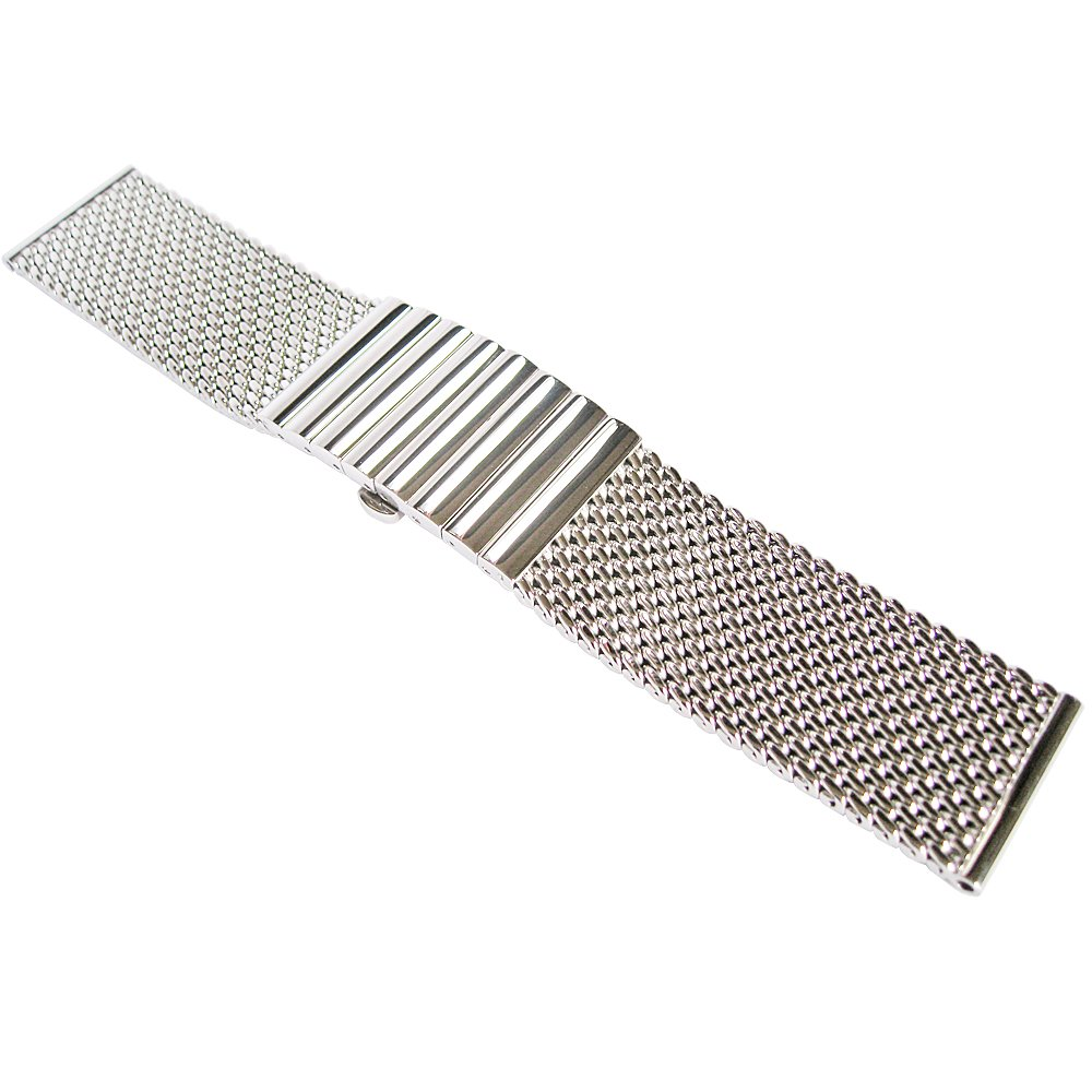Staib 22mm Polished Mesh 130mm Steel Watch Band Model 2792