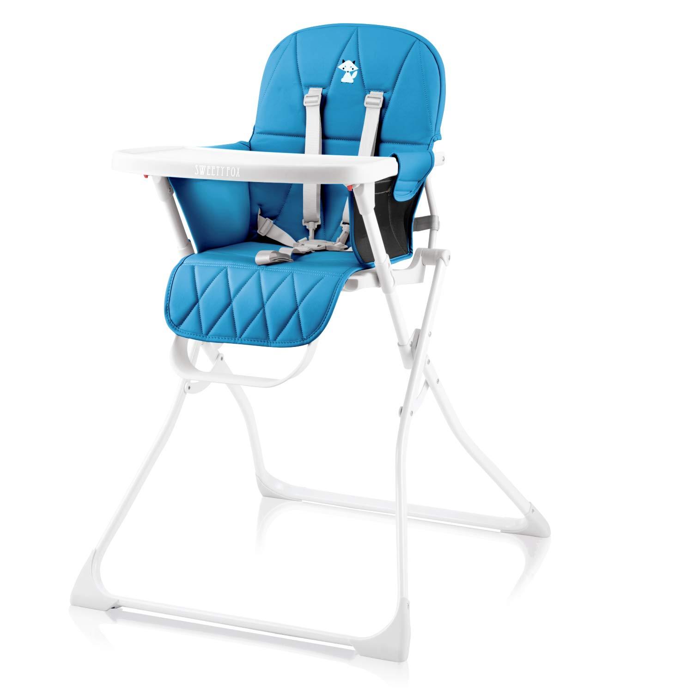 mit Sitz verkleinerer und 5 Punkt Gurt ist ihr Baby jederzeit Sicher rot inkl Koomy komfortabler Baby Hochstuhl Tisch und abwaschbarem Polster red lines