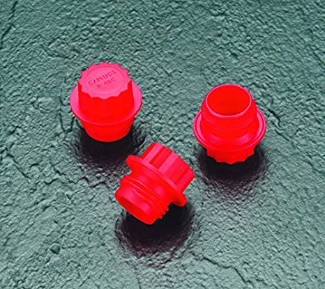 Caplugs 99390176 Plastic Threaded Plug for Pipe Fittings Pack of 50 PE-HD Red P-48 to Plug Thread Size 1//2 NPT Caplugs Inc. to Plug Thread Size 1//2 NPT
