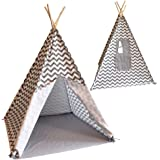 Tipi Spielzelt Bandits Indian inkl Zeltboden, Baumwolltuch (Grey)