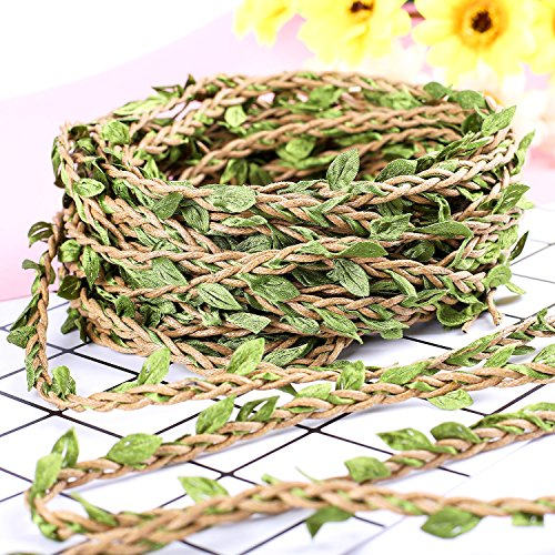 - Whaline 98 Feet Artificial Vines Fake Foliage Ivy Leaf Plant Garland Rustic Wedding Party Home Wreaths Decor