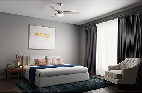 Hunter Sentinel Indoor Ceiling Fan with LED Light and Remote Control, 52 , Brushed Nickel