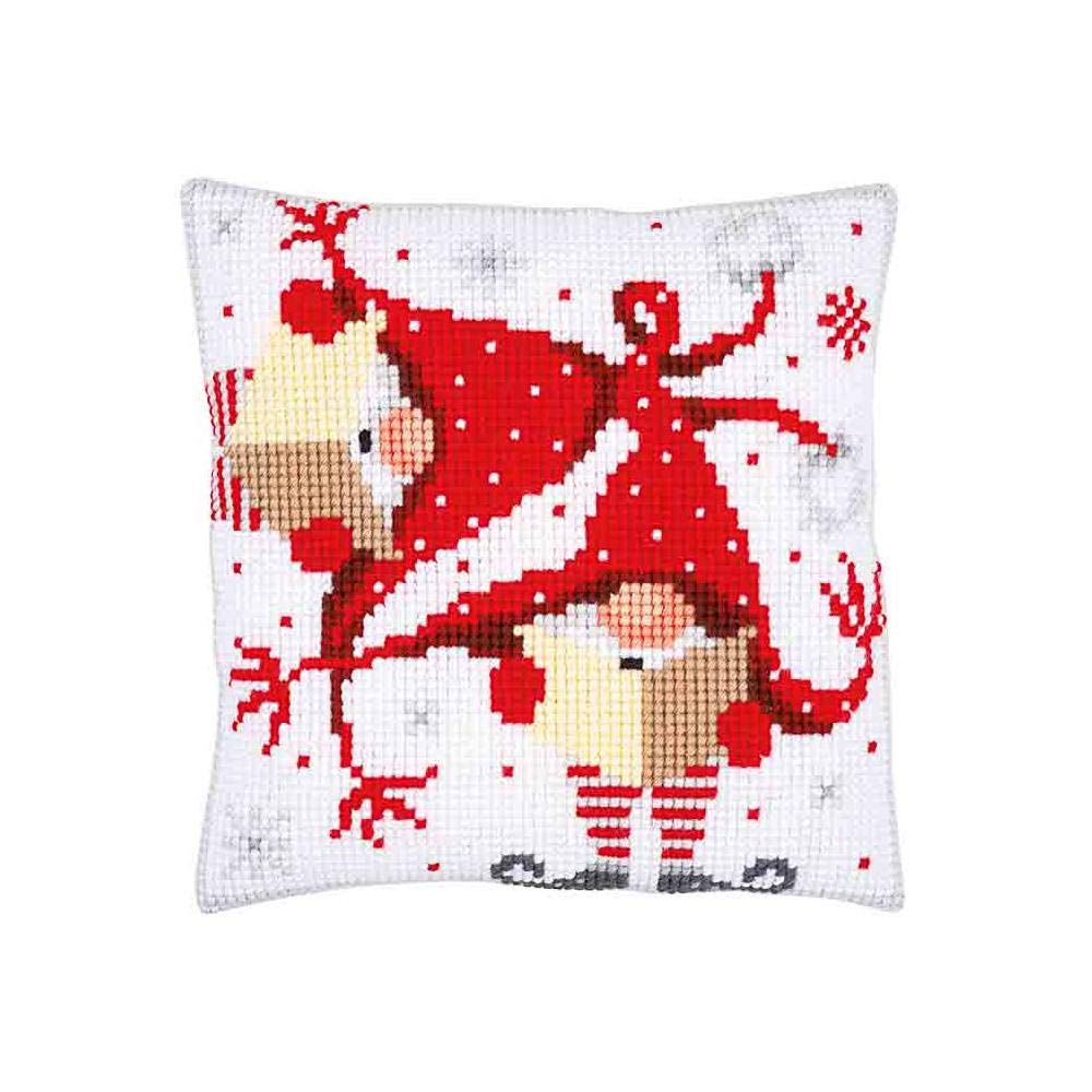 Vervaco Christmas Gnomes II Pillow Needlepoint Kit PN-0164611