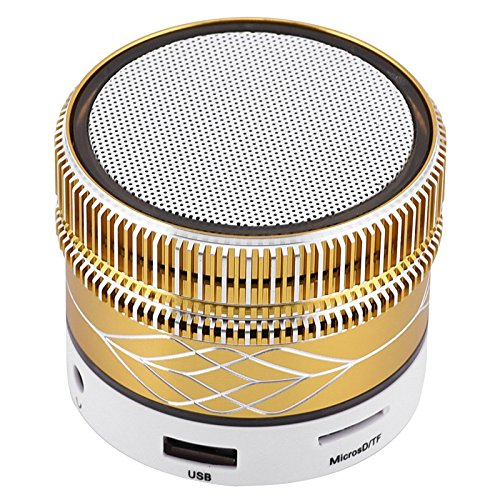 Wireless Bluetooth Speaker Colors Changing Speaker with Aux FM Mode TF Card Slot Desktop Mini Speakers Stereo Music for Android Samsung Galaxy S9 S8 S8 Plus S7 S6 S5 LG Nexus 6 5 HTC Huawei iPhone 8 X by TopePop