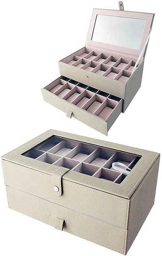 Official Caja Vitrina Guarda Relojes 24 Unidades Polipiel Beige ...