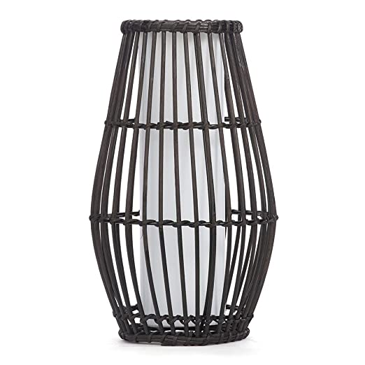 Wicker rattan style table lamp in black stylish bedside living room wicker rattan style table lamp in black stylish bedside living room lounge table light litecraft aloadofball Images