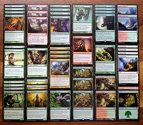 Magic Custom (Magic: The Gathering Modern Wolf Green Red Custom Magic Deck)