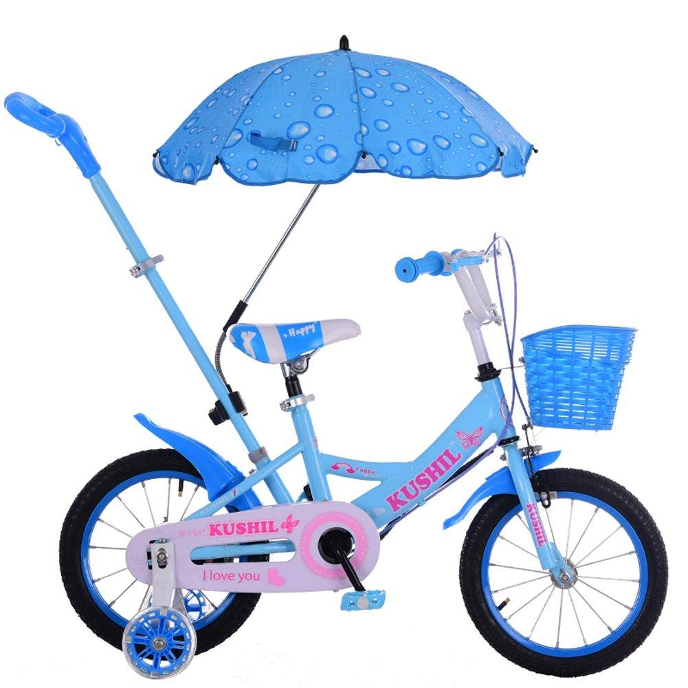CHS@ 子供の自転車2-7歳の赤ちゃんのキャリッジの男の子の女の子のプッシュバイク12/14/16インチ乳児の赤ちゃんとプッシュロッドとトレーニングホイール 子ども用自転車 (サイズ さいず : 14