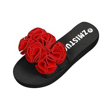 LuckES Negro Sandalias de mujer Verano, plataformas niña camper mujer Chanclas Mujer Zapatillas casuales de playa con punta abierta: Amazon.es: Deportes y ...